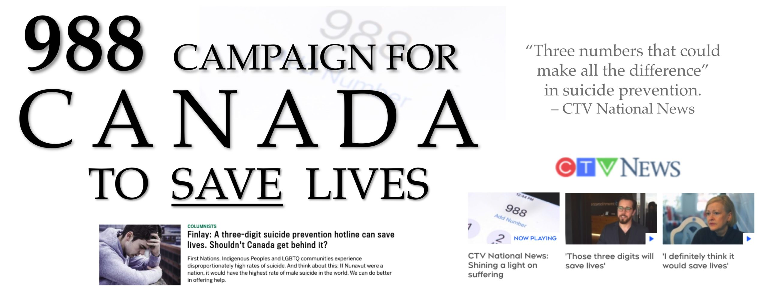The 988 Campaign to Save Lives